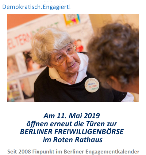 Berliner Freiwilligenbörse 2019